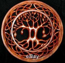 Tree of Life Carving Wall Art Panel Celtic Knot Plaque Hand Carved wood Bali