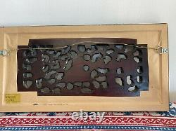 Vintage Chinese Wood Carving Panel With Frame Asian China Wood Panel Frame