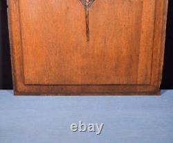 Vintage French Art Deco Carved Solid Oak Wood Panel Salvage