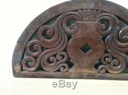 Wall Round Wooden Panel Antique Hand Floral Carved Estate Door Home Decor Old UK