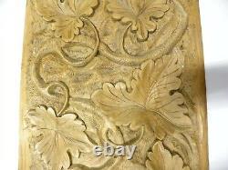 Wonderful Vintage Antique Solid Wood Carved Panel (B20)