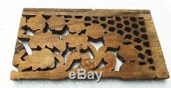 Wood Panel Carved Panel Wood Wall Panel Old Home Collectible Art