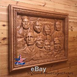 Wood Picture By Your Photo Carved Artwork 3d Icon Painting Panel Sculpture Decor